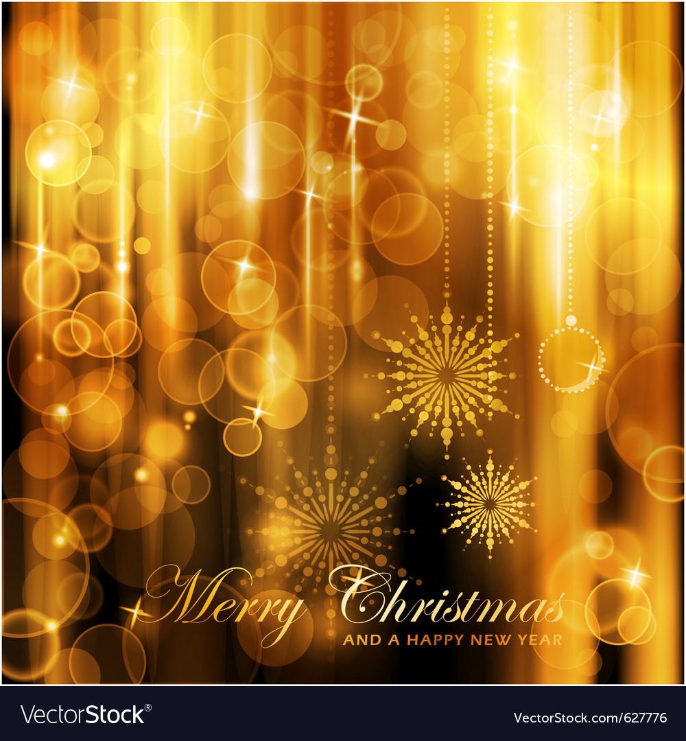 Sparkling lights christmas card vector image