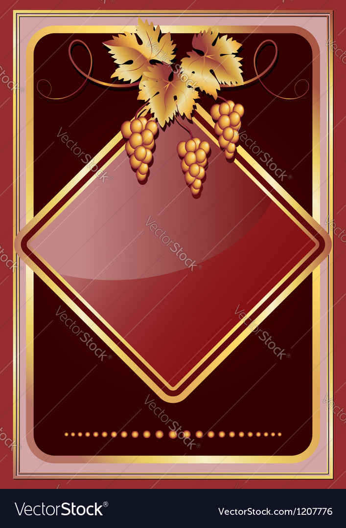 Background with golden vine ornament vector image