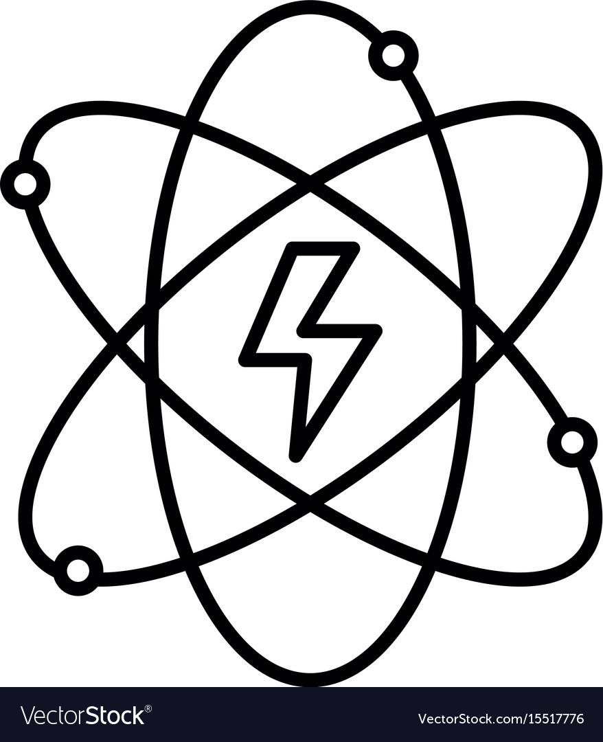 Line energy hazard symbol of power industry with vector image biocorpaavc Gallery