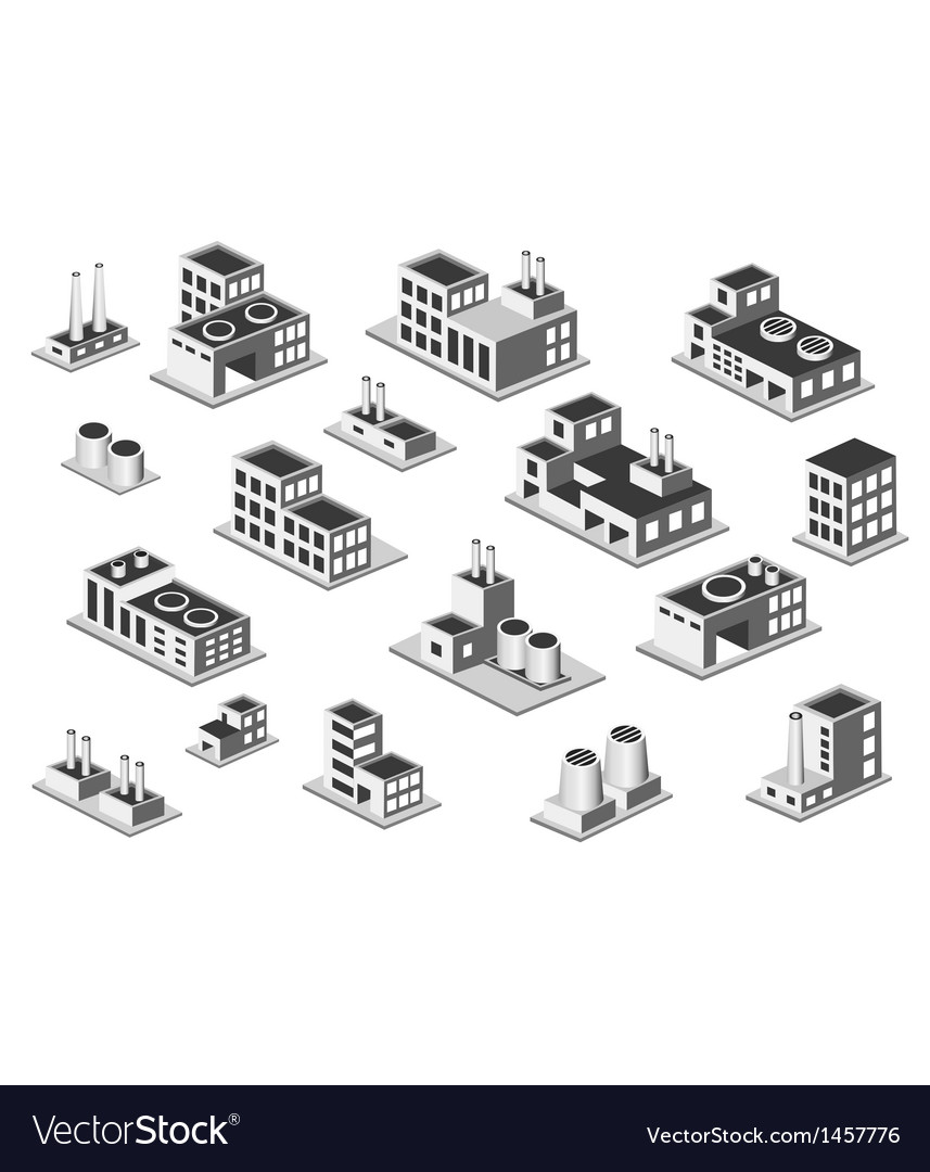 Set factory vector image