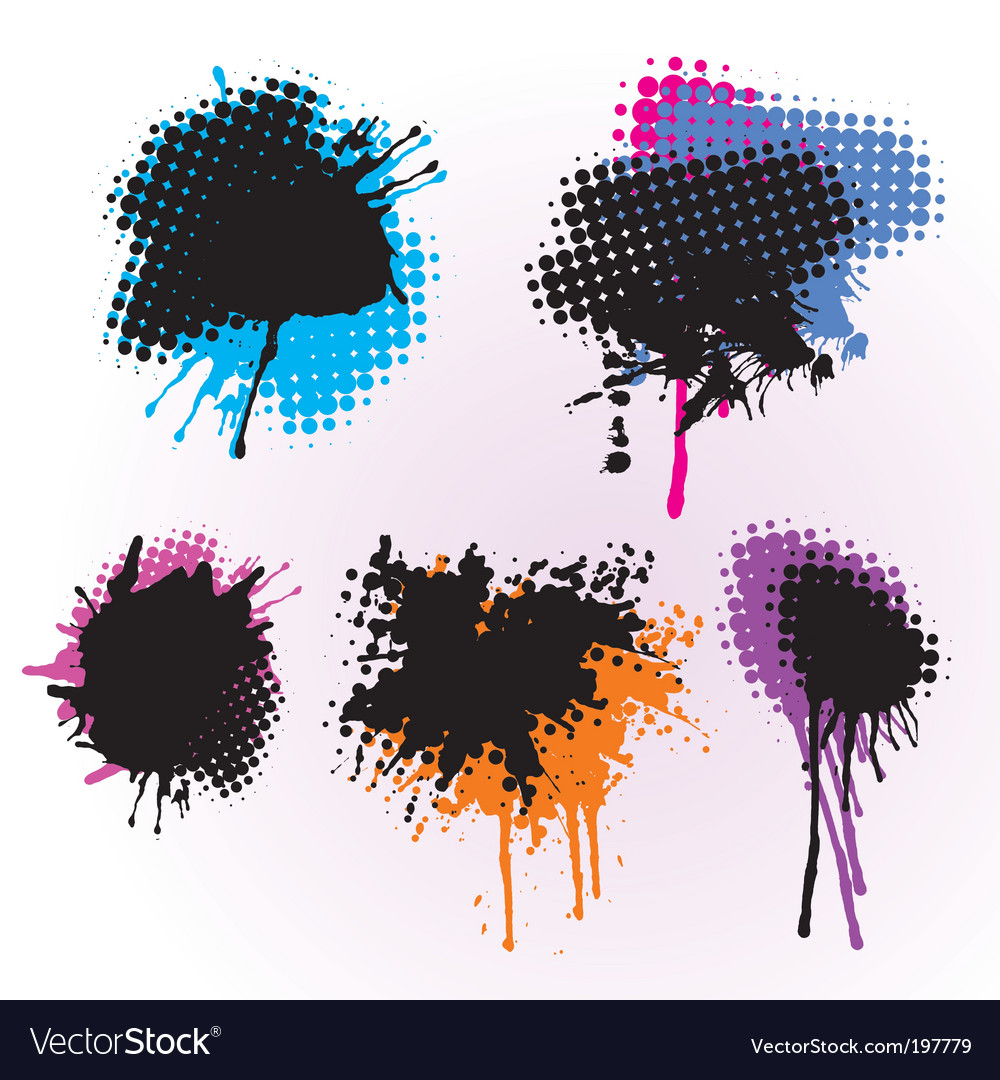 Colorful splashes vector image