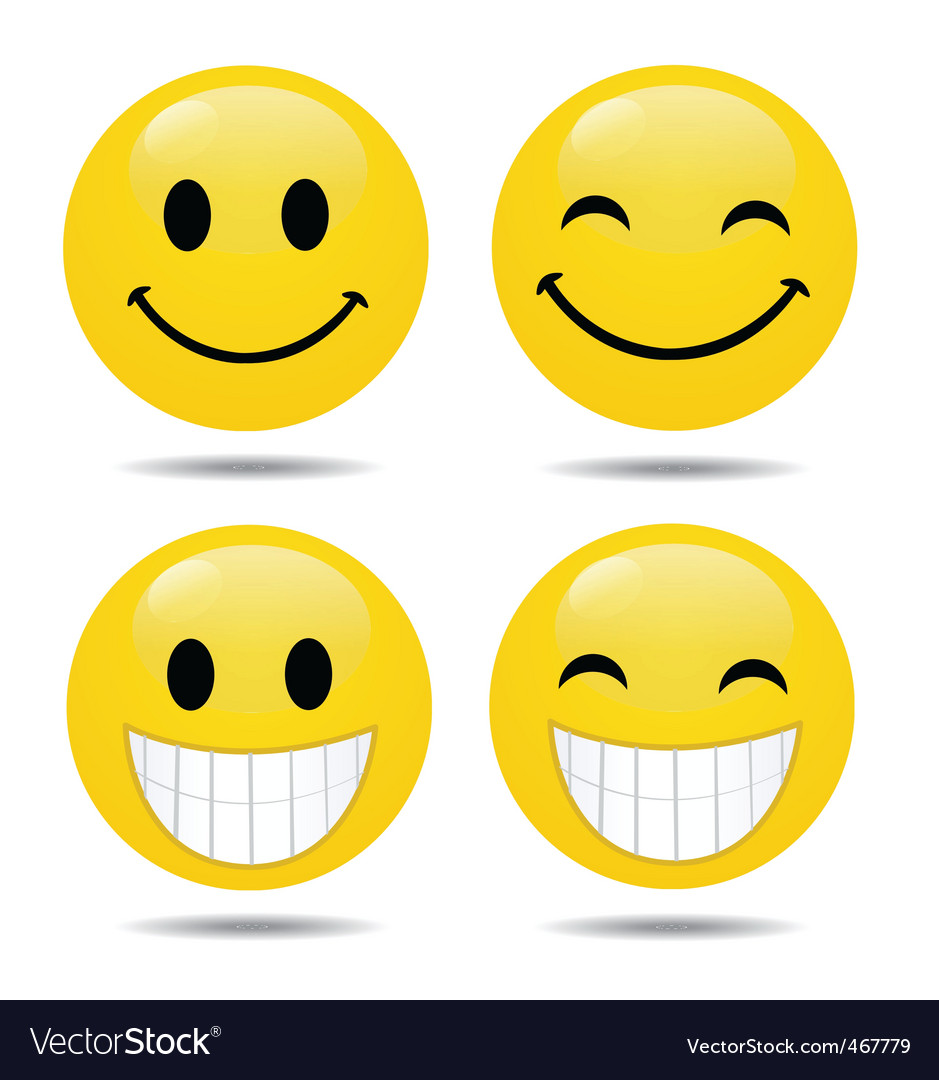 Smiley faces Royalty Free Vector Image - VectorStock