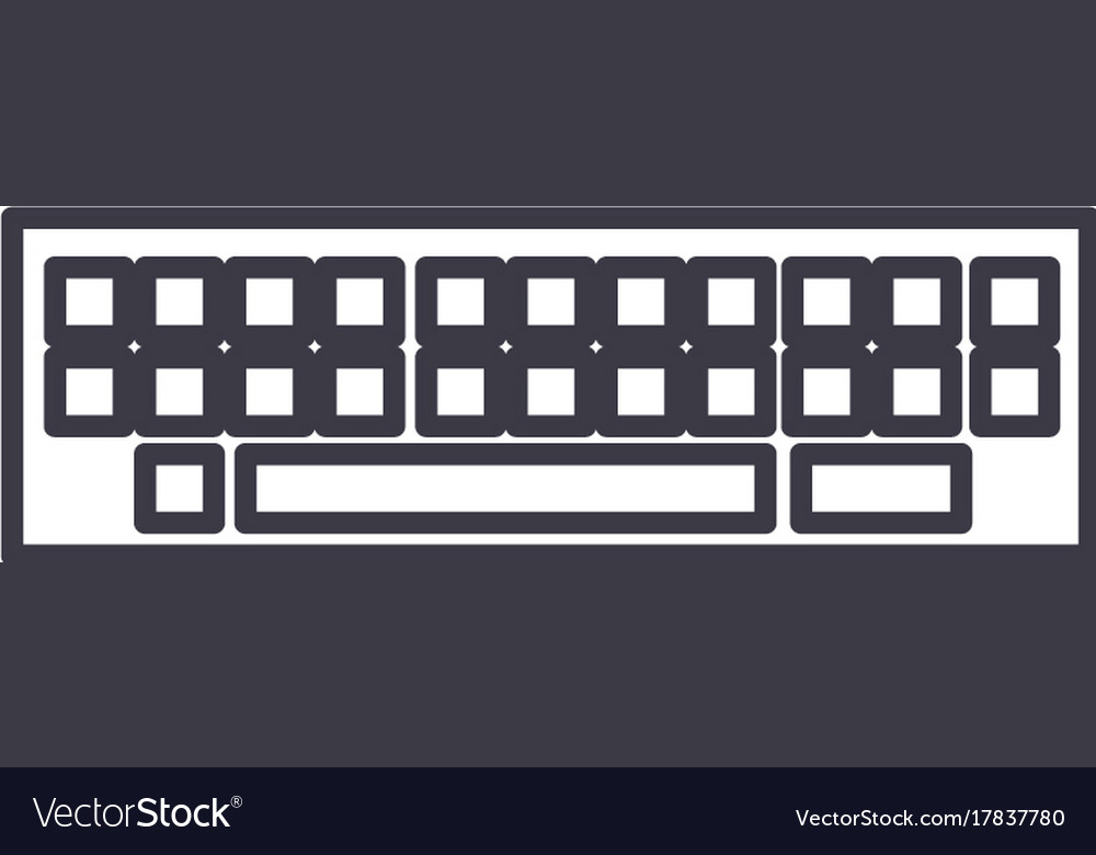 Keyboard line icon sign on vector image