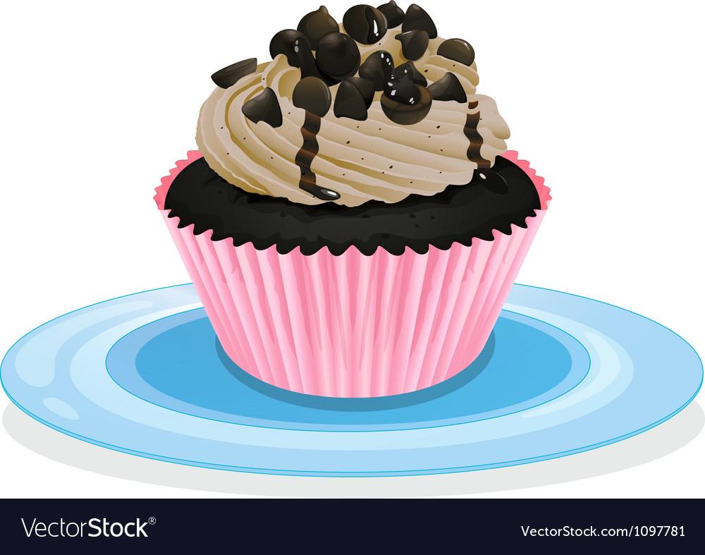 A cupcake vector image