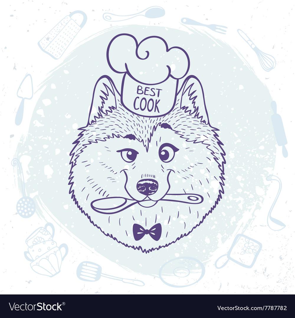 Husky best cook vector image