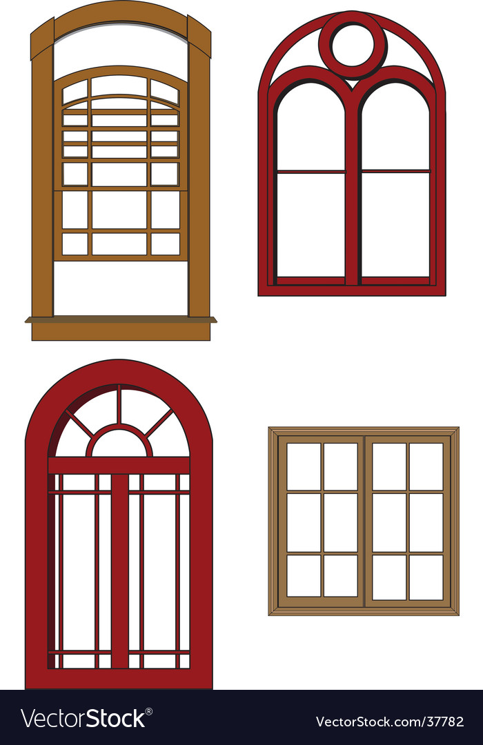 Traditional windows vector image