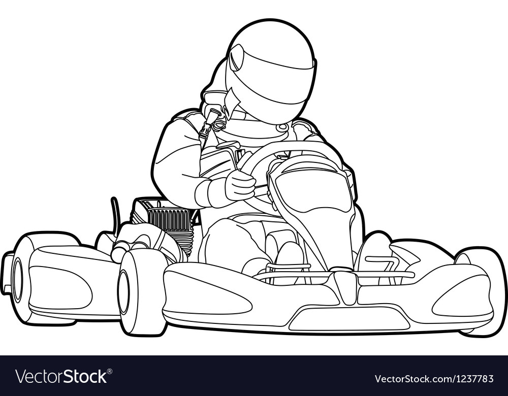 Karting vector image