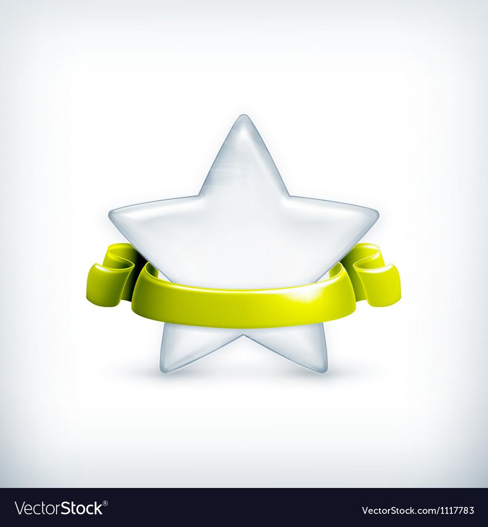 White star award vector image