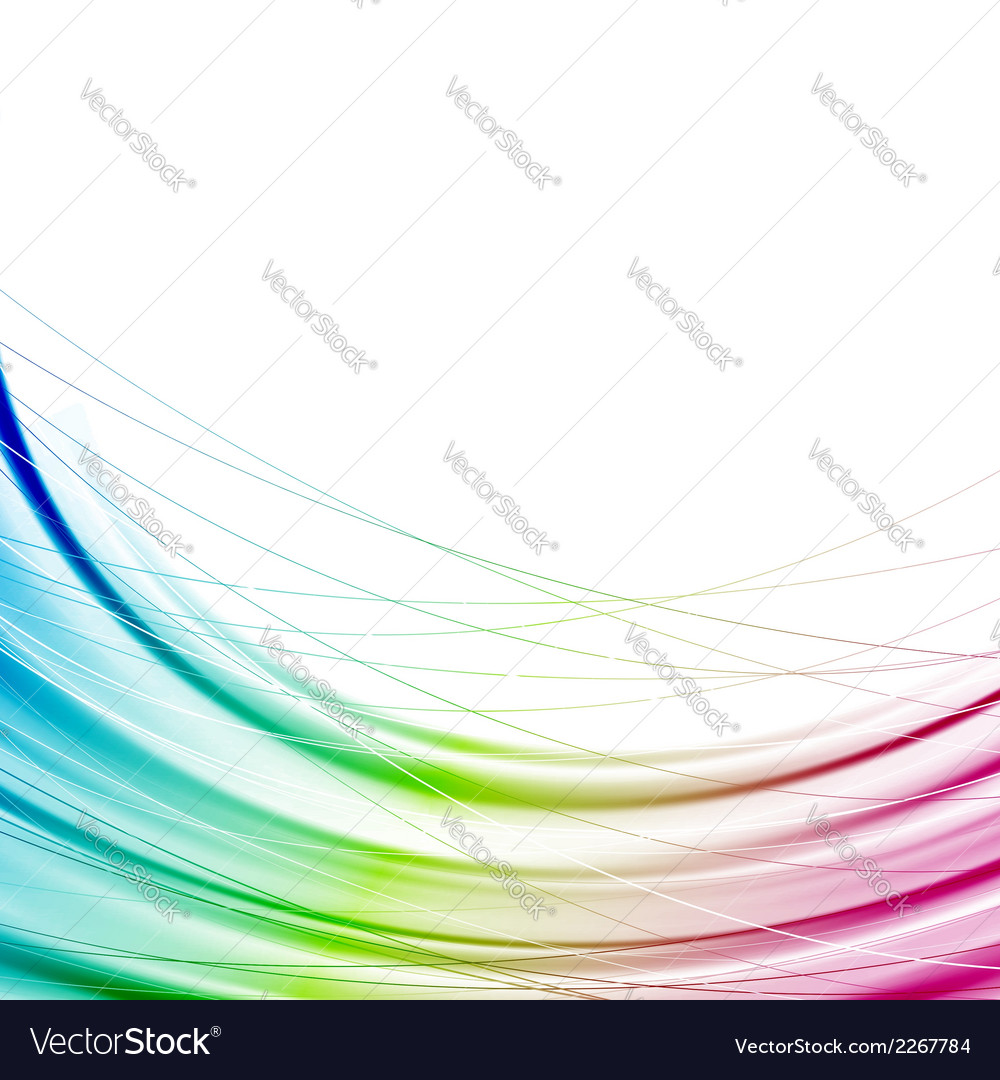 Bright Abstract Rainbow Transparent Background Vector Image