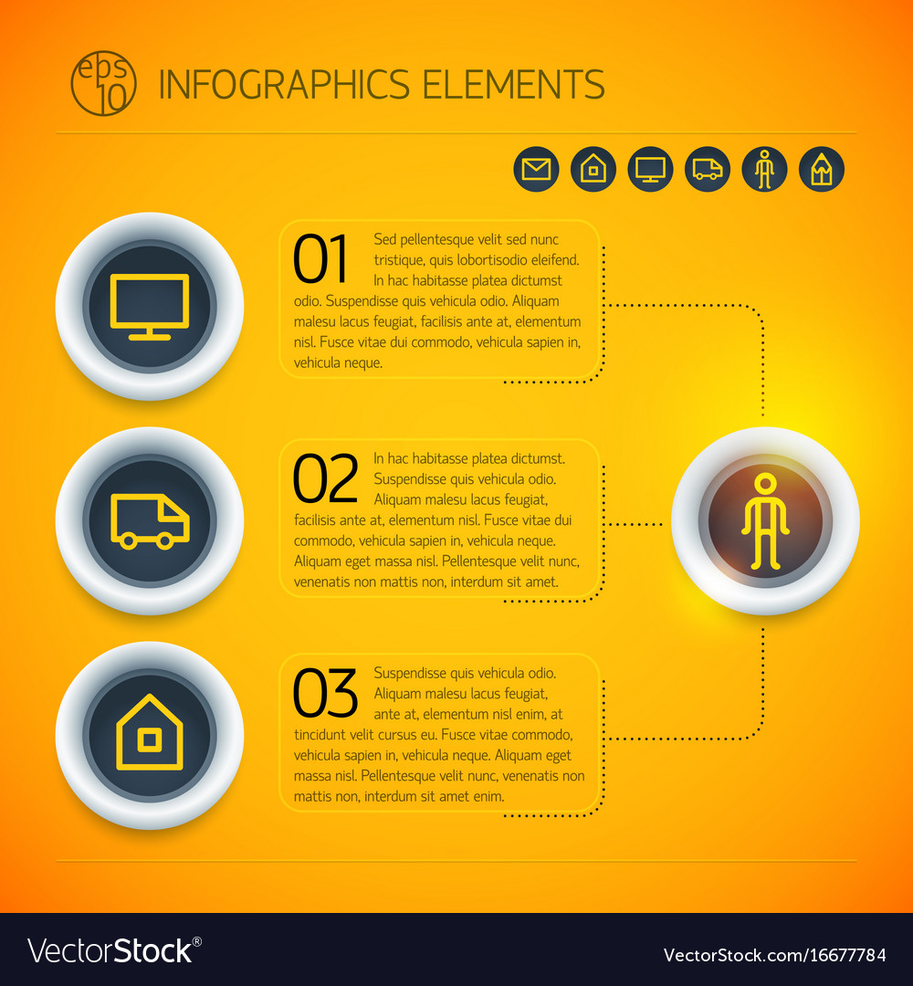 Bright business infographic template vector image