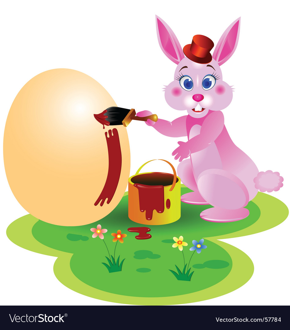 easter rabbit royalty free vector image vectorstock