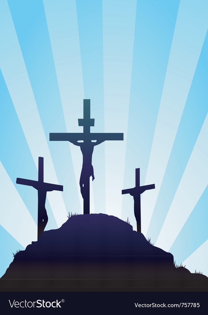 Jesus on the cross Vector Image