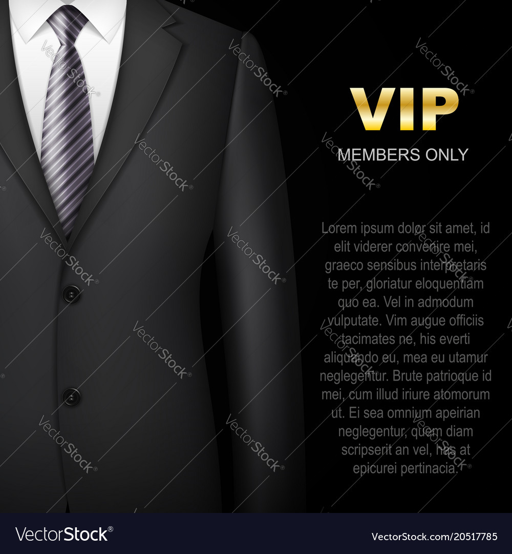Business suit background invitation card vector image stopboris Image collections