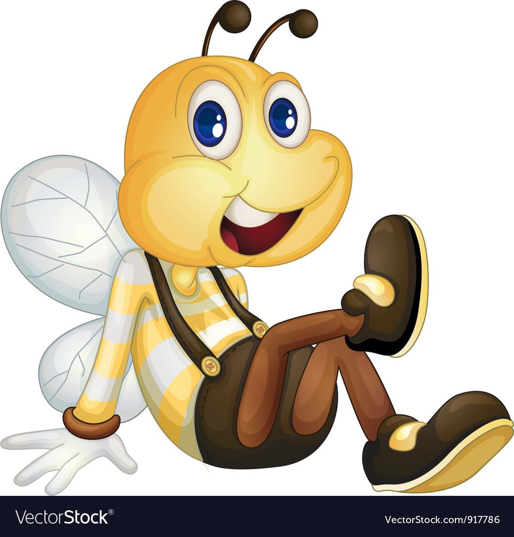 Bee sitting vector image