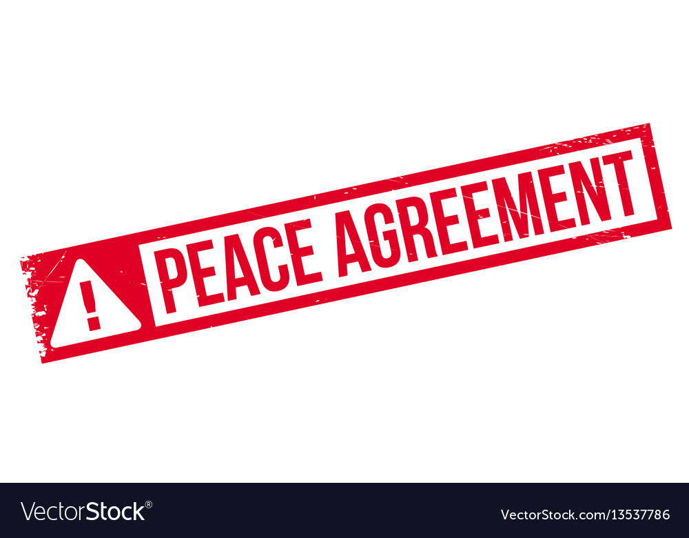 Peace Agreement Rubber Stamp Royalty Free Vector Image