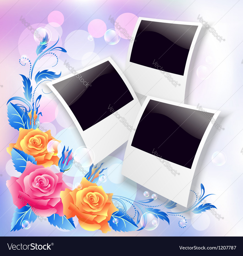 Page layout photo album vector image