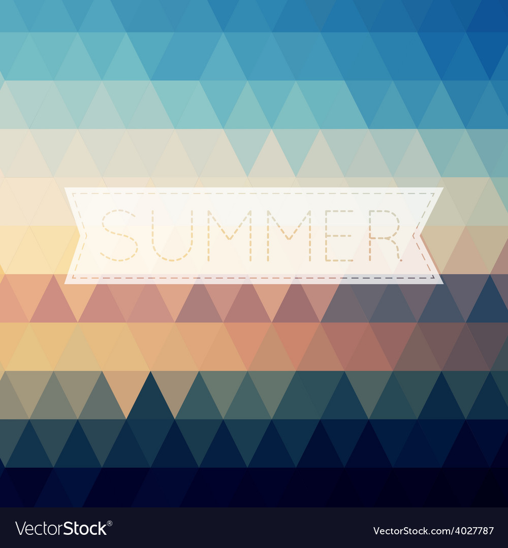 Vintage summer poster sun rope frame file layered vector image