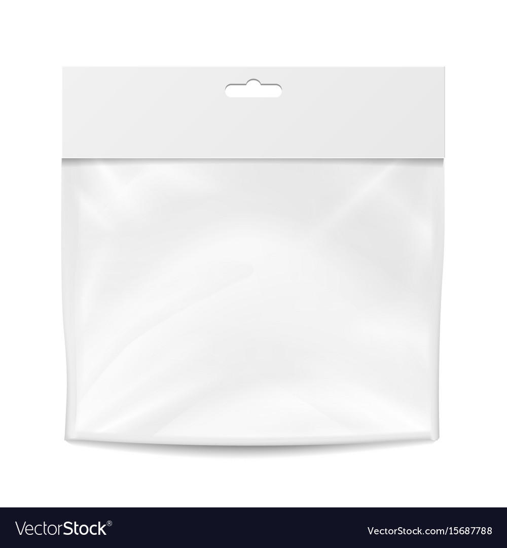 Plastic pocket blank packing design vector image