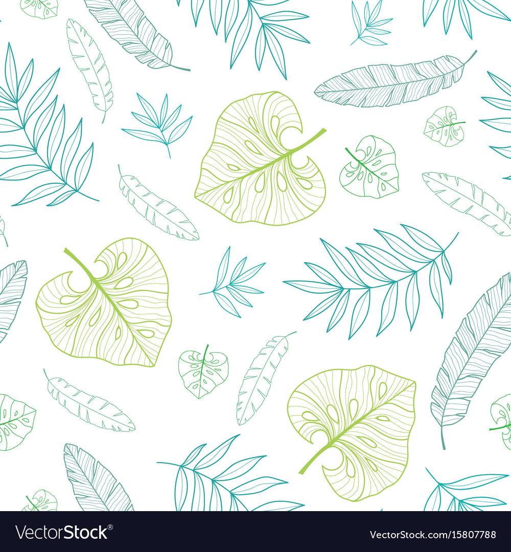 Tropical drawing summer hawaiian seamless vector image