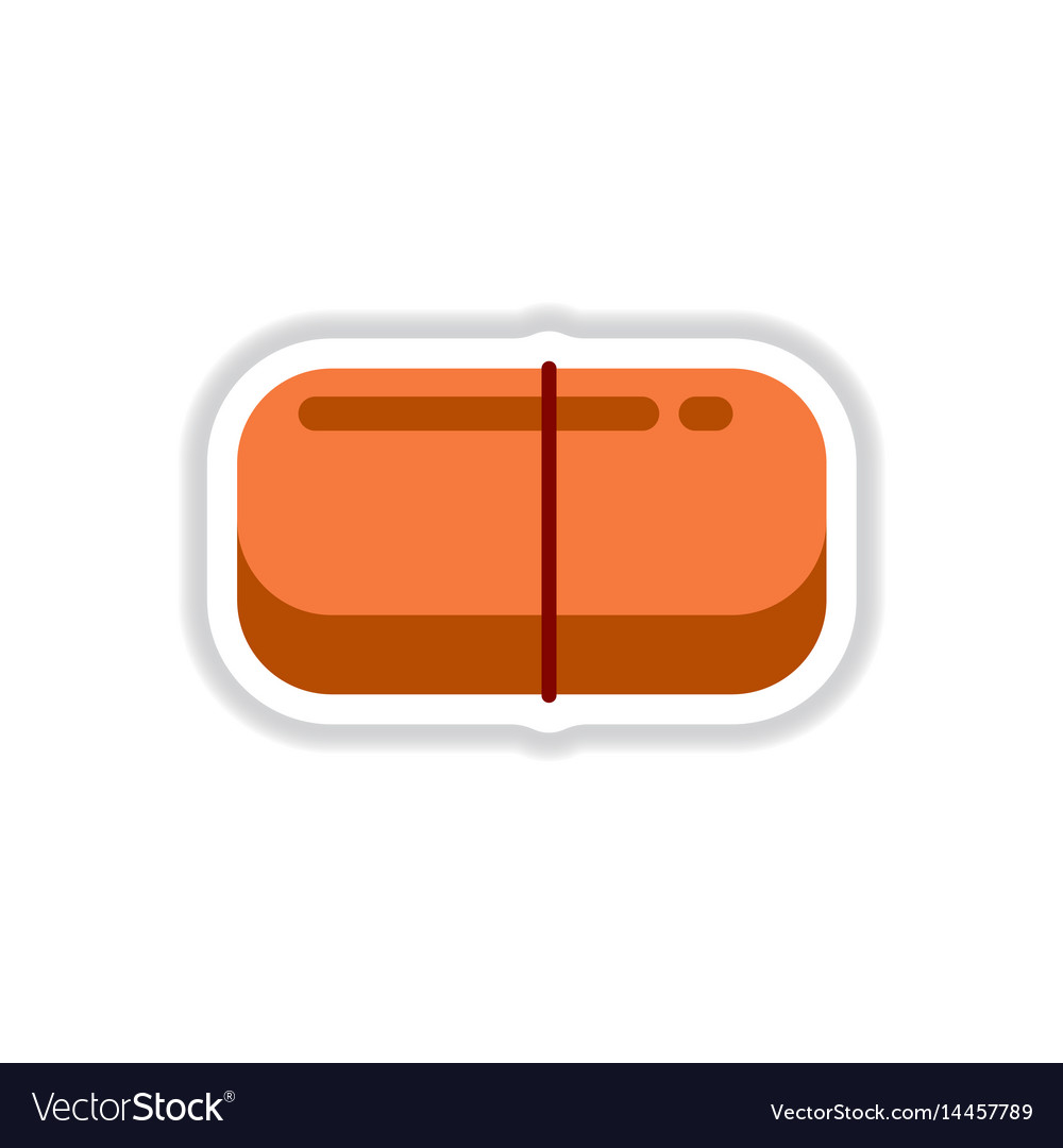 Street food flat style sticker