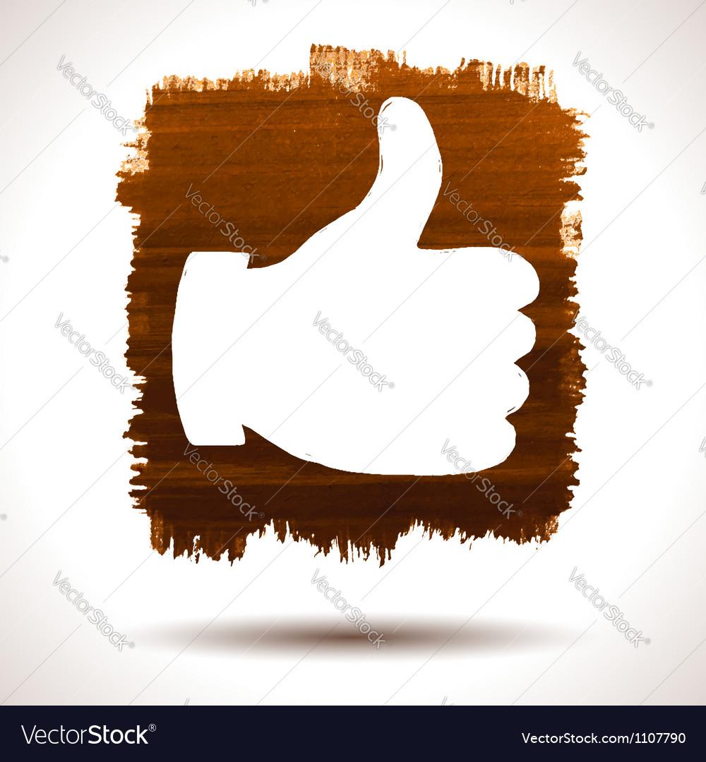 Like hand vector image