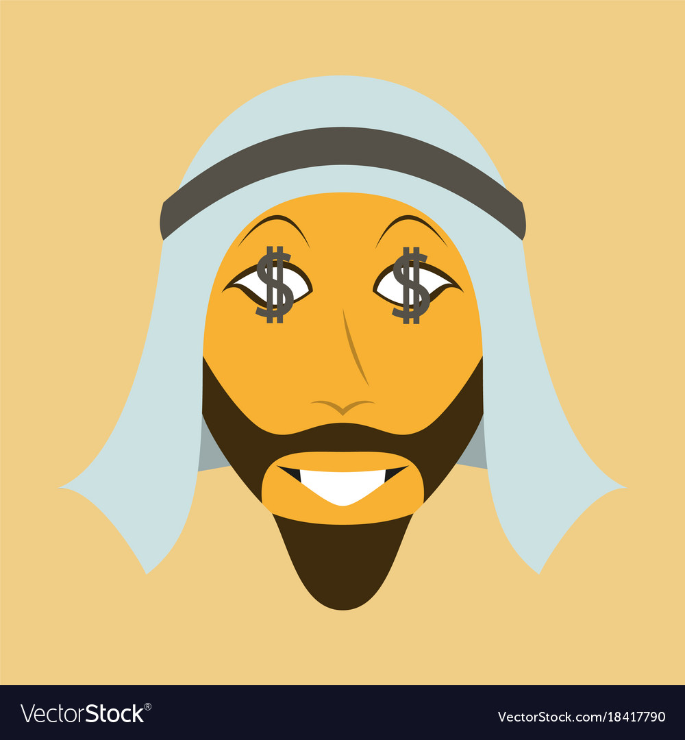 Flat icon on theme arabic business businessman