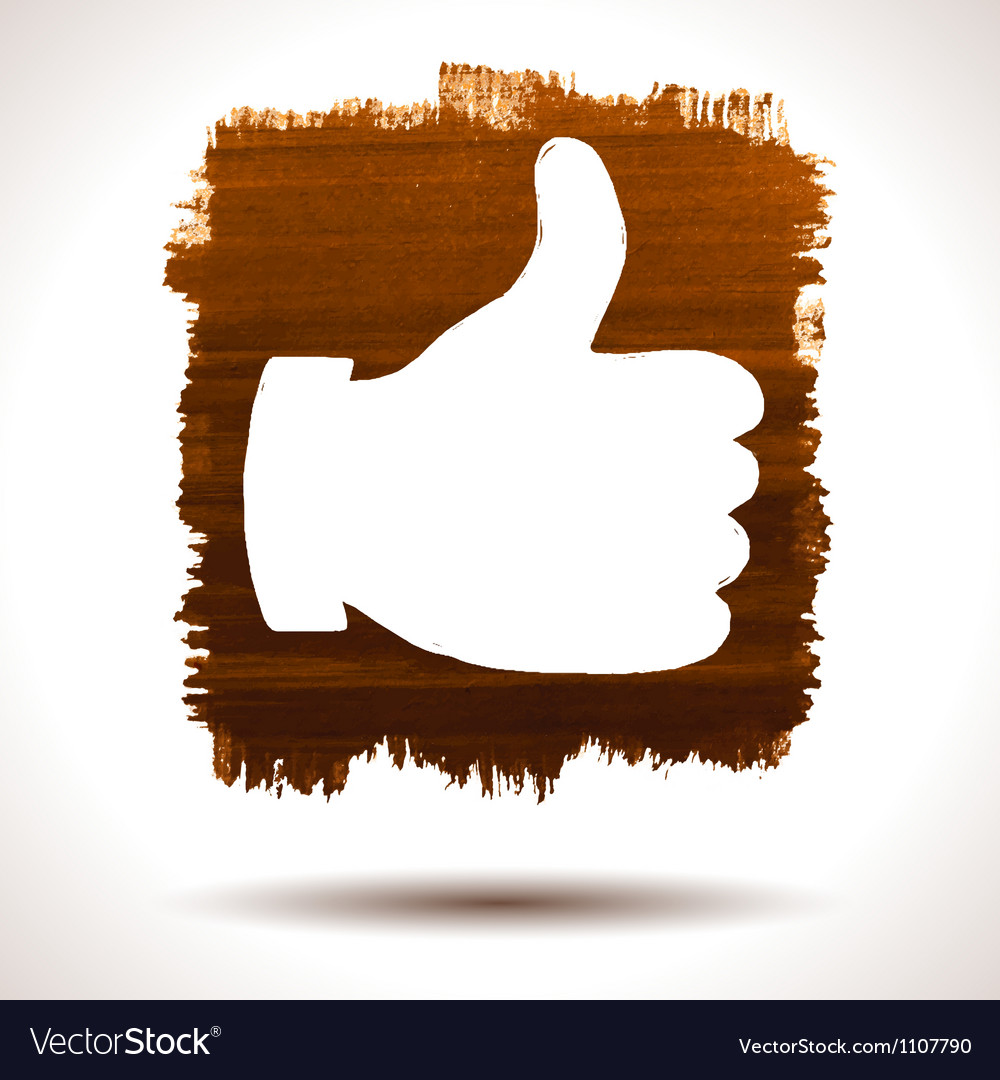 Like hand vector image