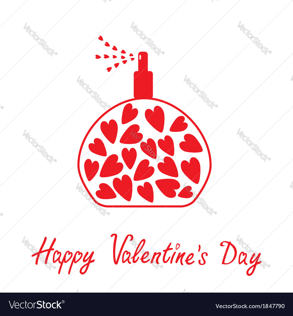 perfume with hearts inside happy valentines day vector image - Valentine Perfume