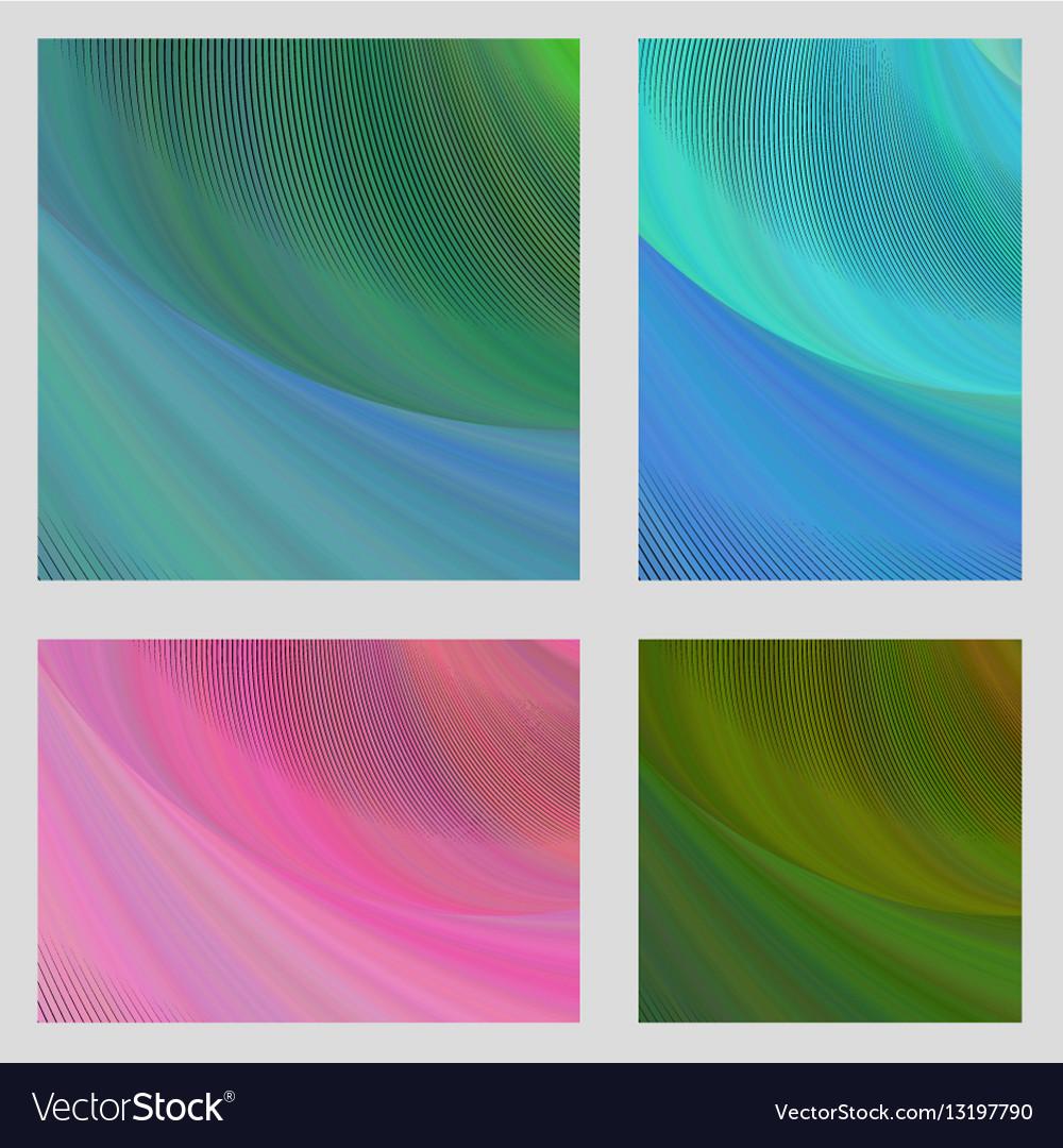 Psychedelic brochure background set vector image