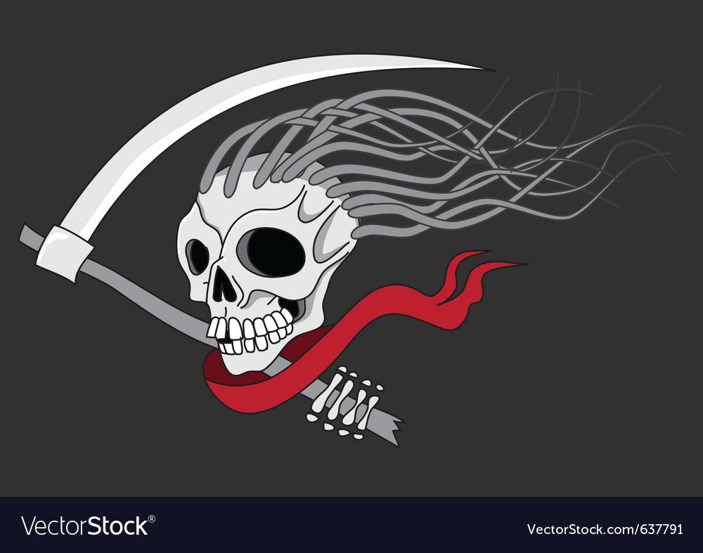 Death with scythe vector image