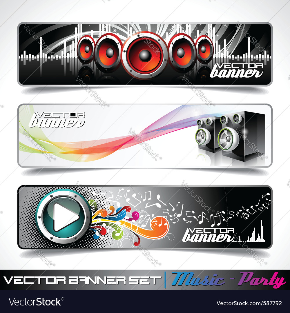 Music themed banners vector image