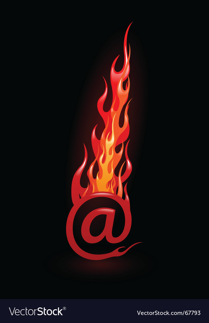 Hot email vector image