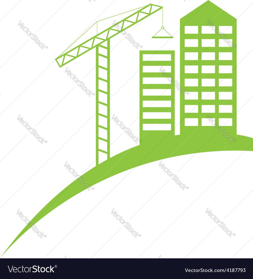 Real estate construction symbol logo template vector image
