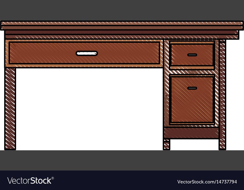 Drawing office desk wooden drawer handle furniture
