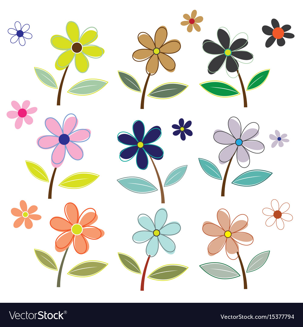 Flower vector image