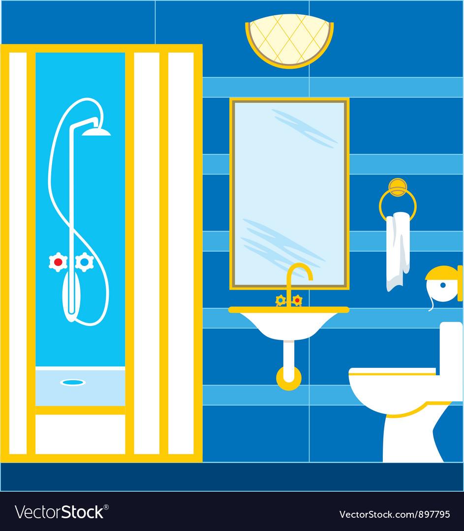 Bathroom royalty free vector image vectorstock - Image of bath room ...