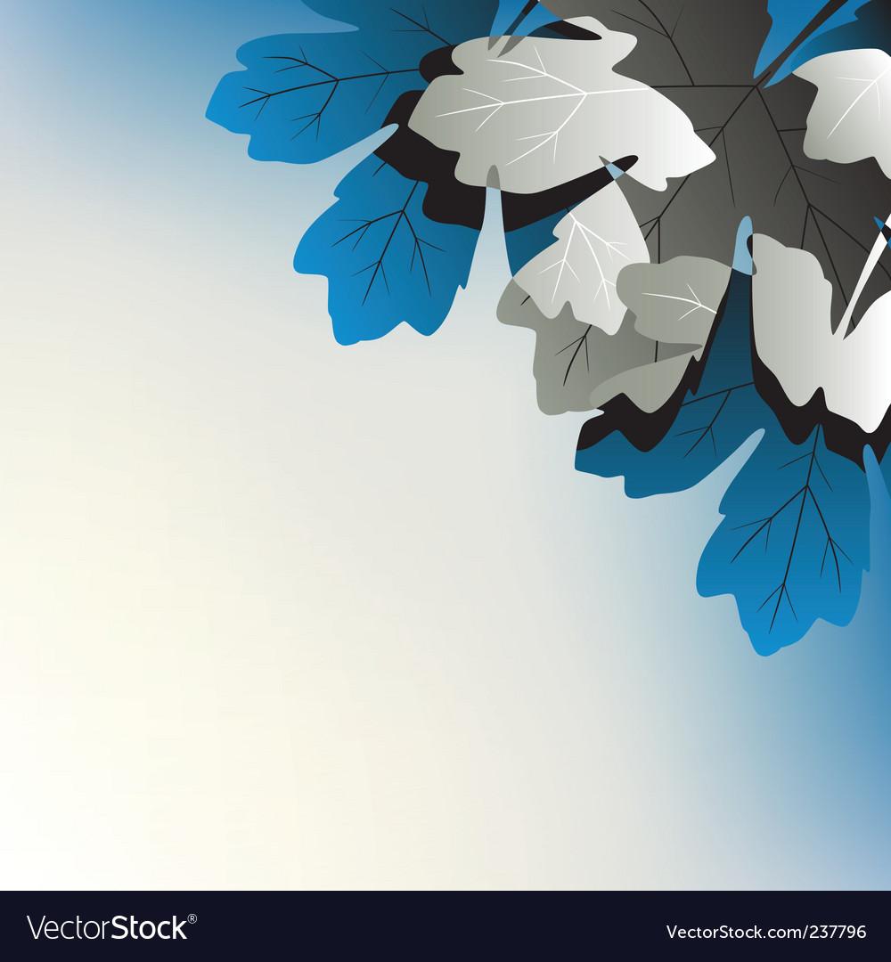 Leafy corner vector image
