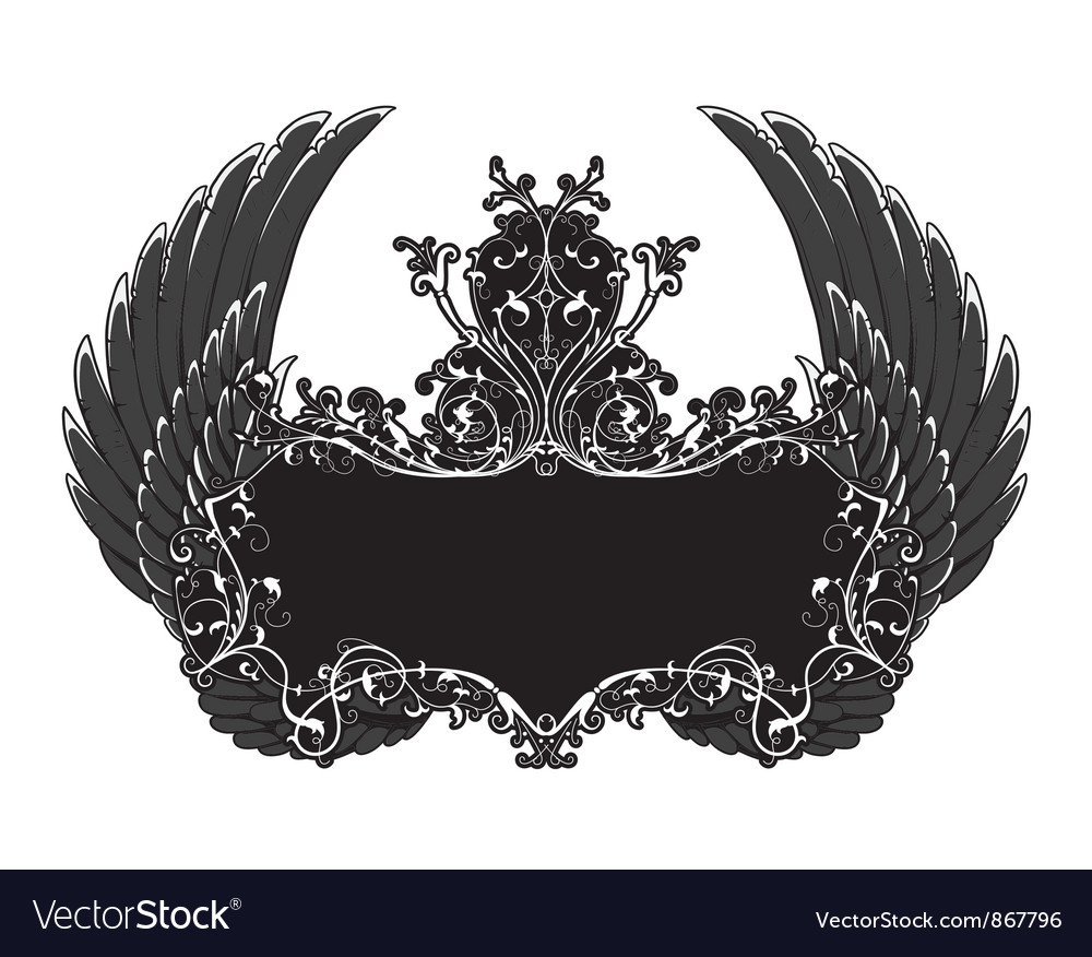 Elegant floral frame vector image