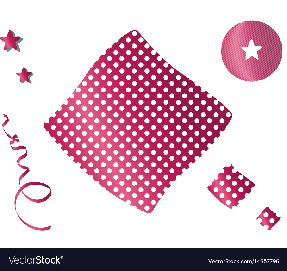 Decorative elements for a template vector image