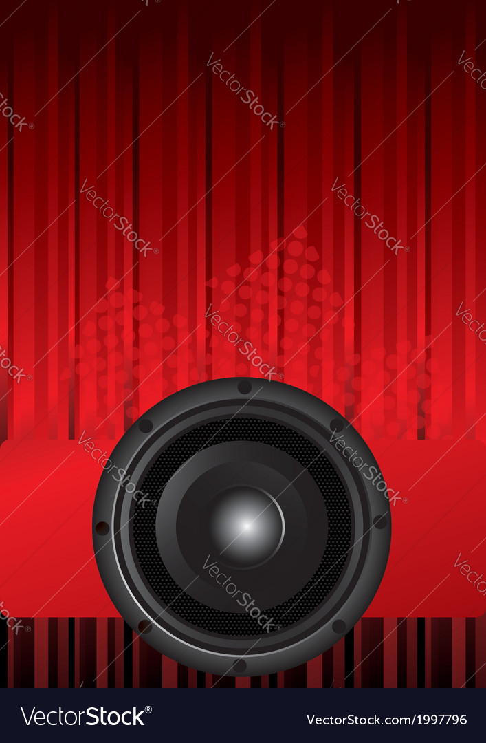 Party design with black speaker vector image