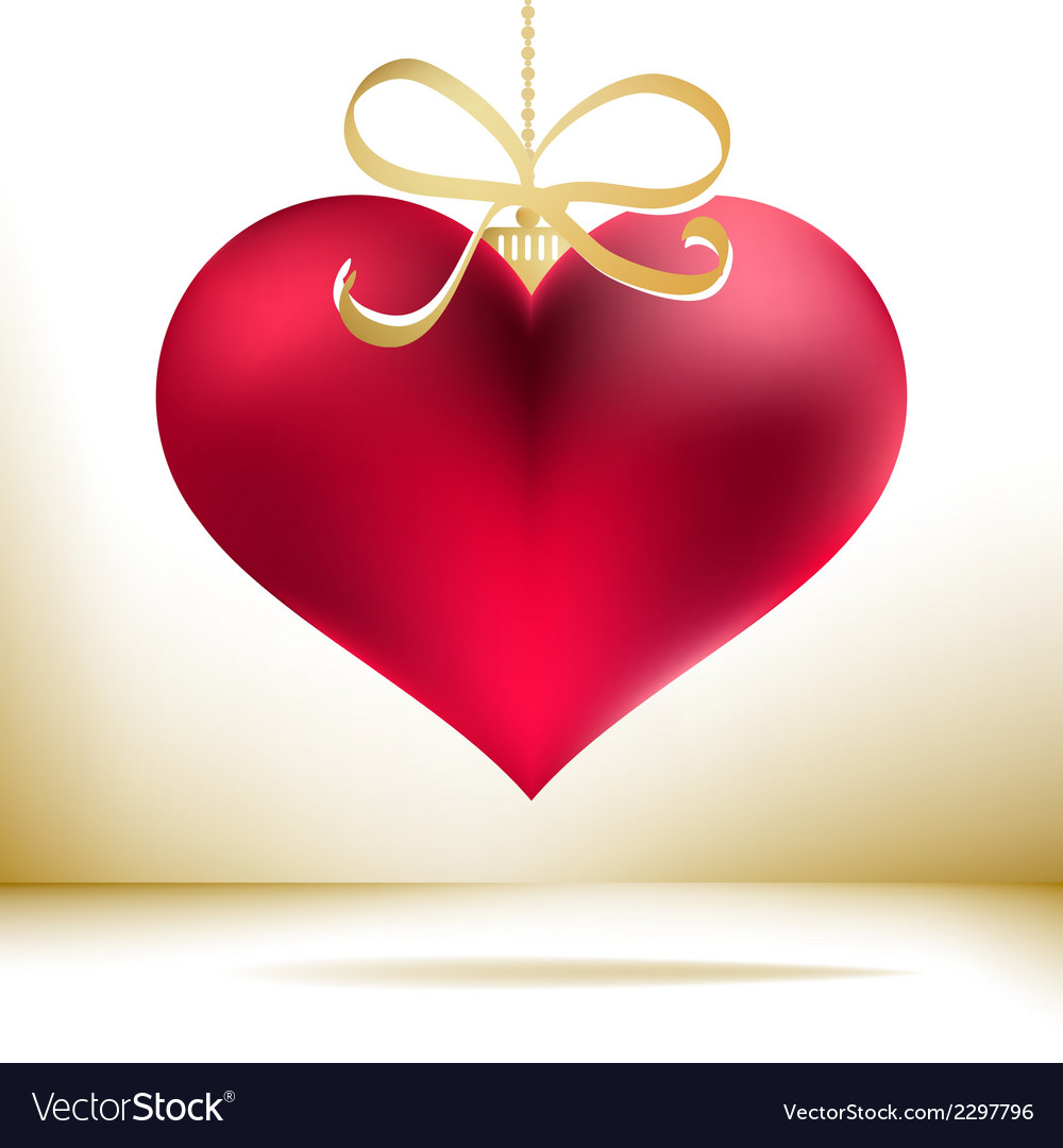 Red christmas heart decoration EPS8 vector image
