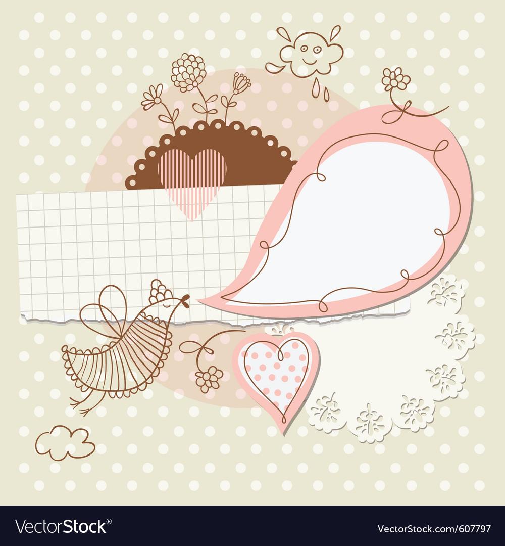 Scrap-booking elements vector image