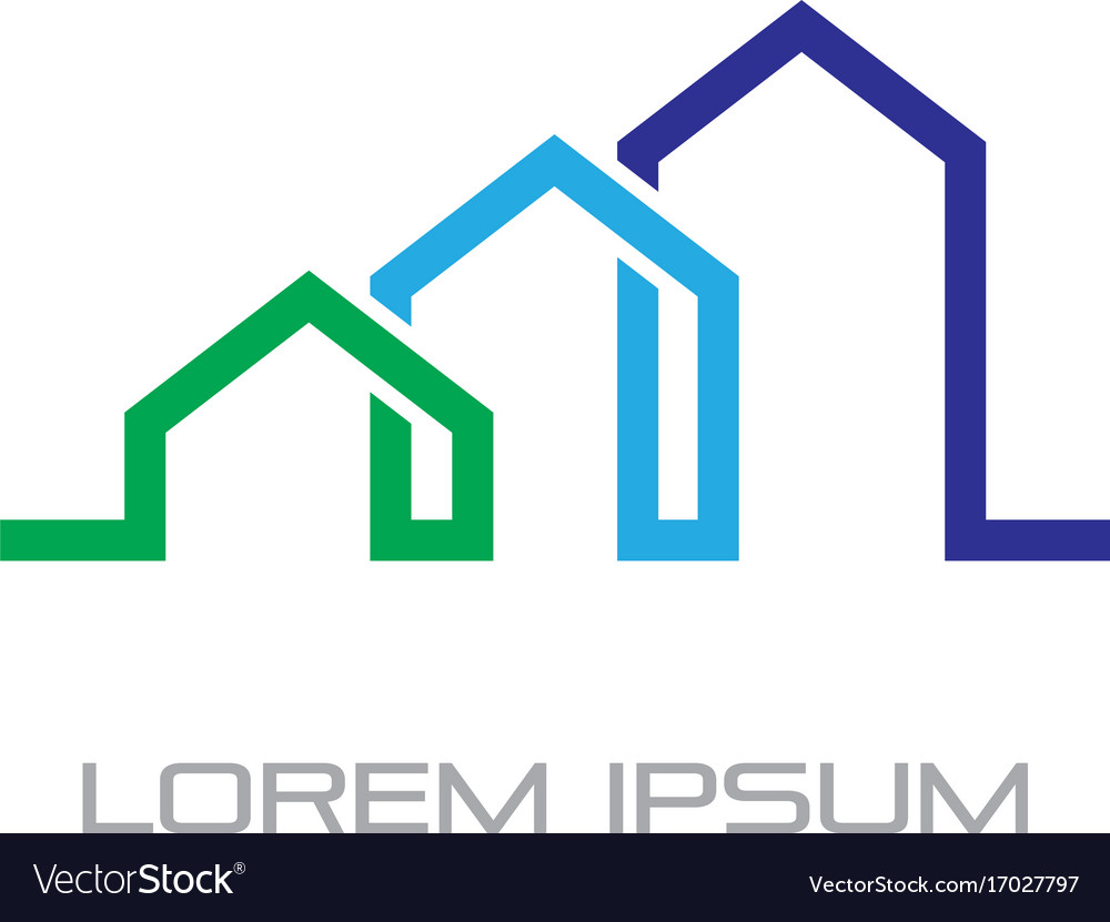 Home building business contruction logo vector image