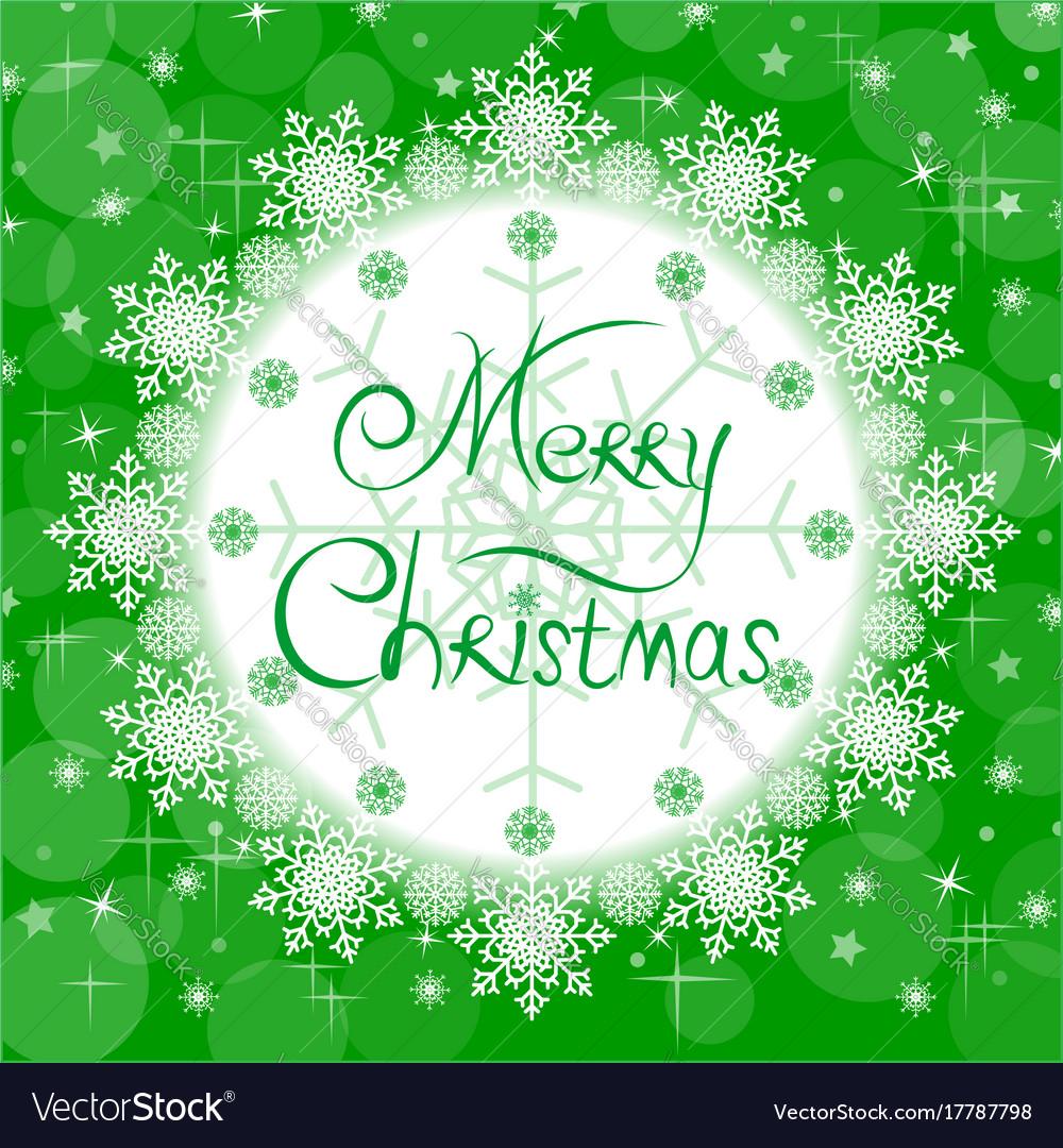 Christmas green card vector image