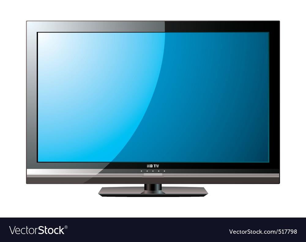 Modern lcd flat blue screen vector image