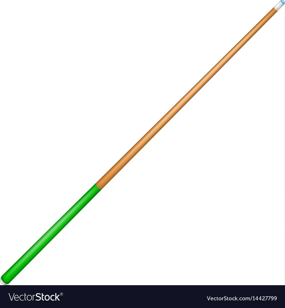 Billiard cue with green handle vector image