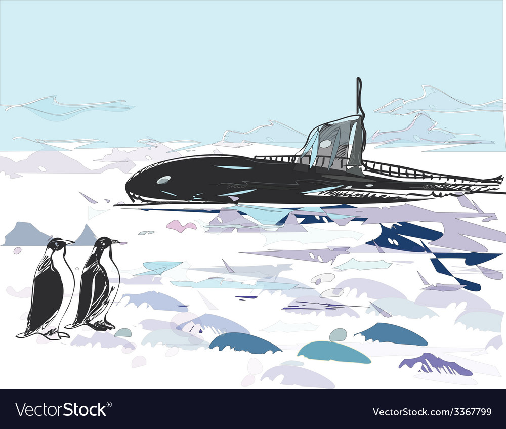 Submarine Ascent vector image