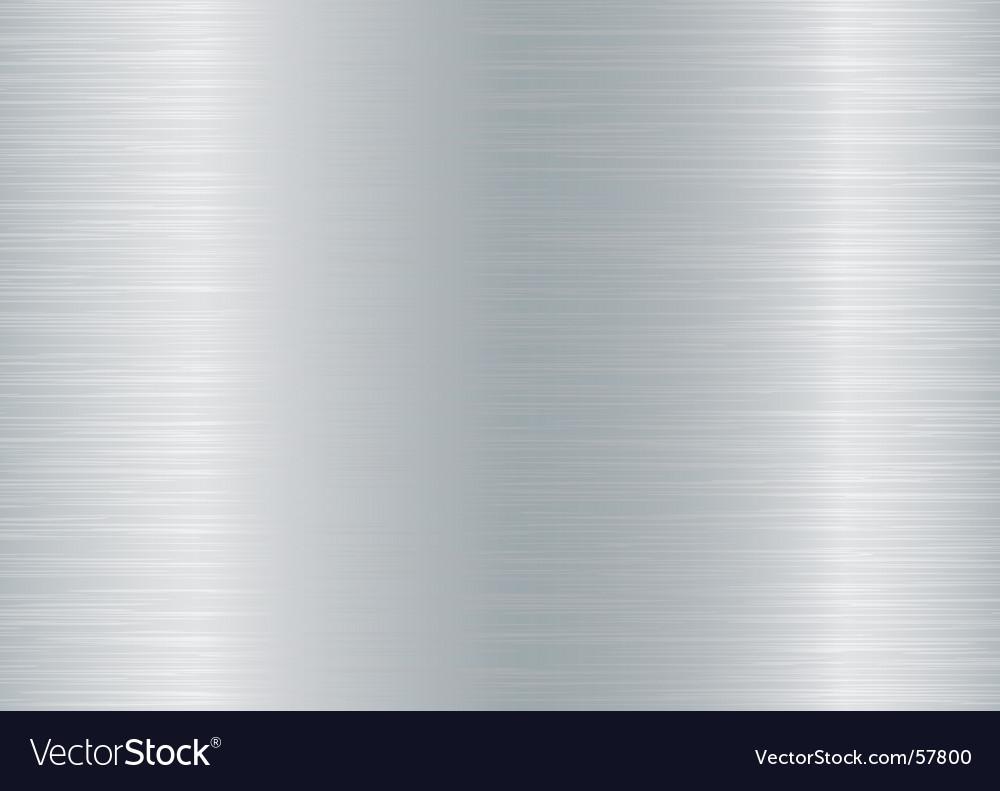 Brushed aluminium background Vector Image