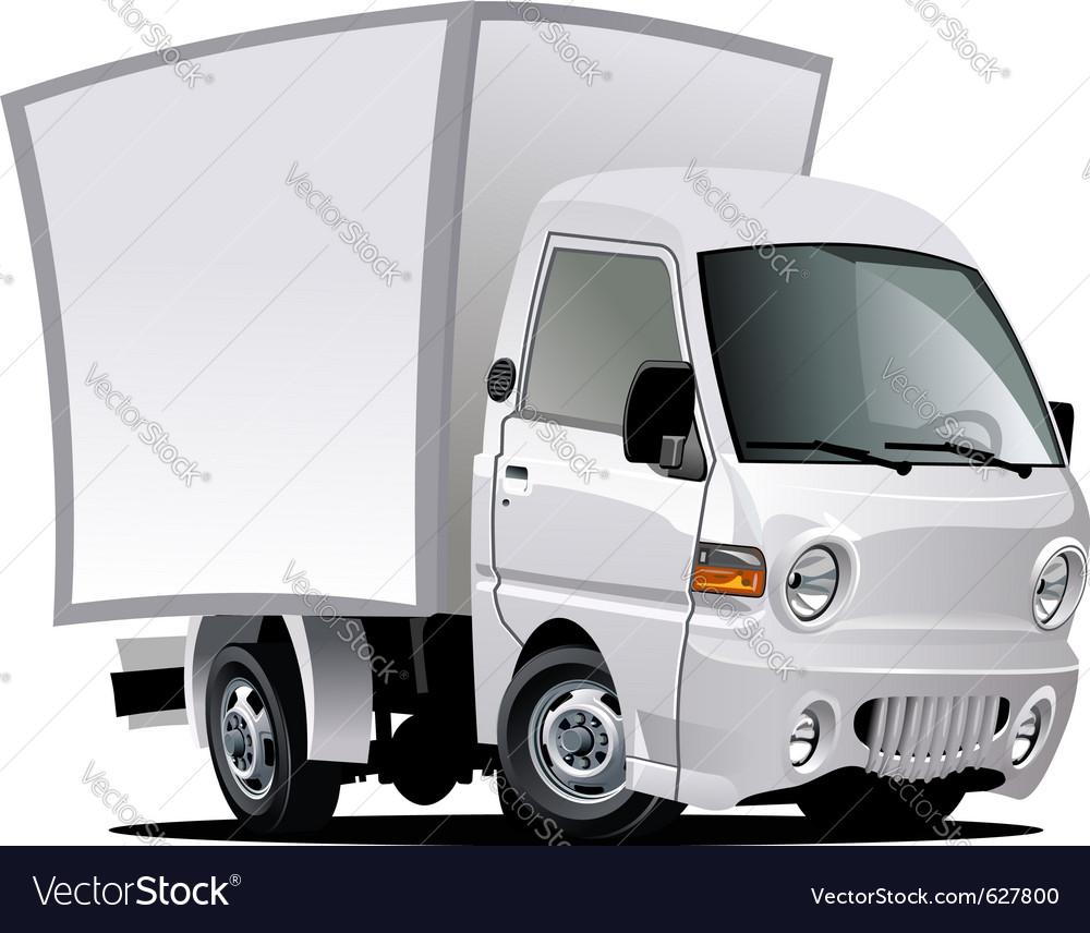 Cartoon delivery truck Royalty Free Vector Image - VectorStock