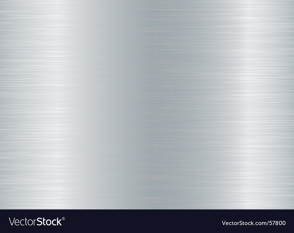 Brushed aluminium background vector image